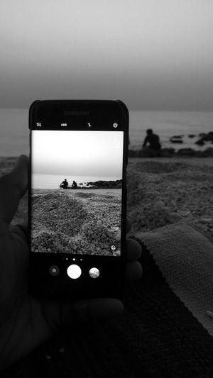 Beach Peaceful Evening Hamriyabeach Hamariya UAE Nature IPhoneography IPhone Iphoneonly Blackandwhite Beach Life