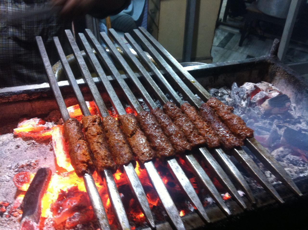 A meal about to happen About To Dig In Barbecue Barbecue Grill Coal Food Food Ahoy Grilled Heat - Temperature Kebabs Meal Meat Preparation