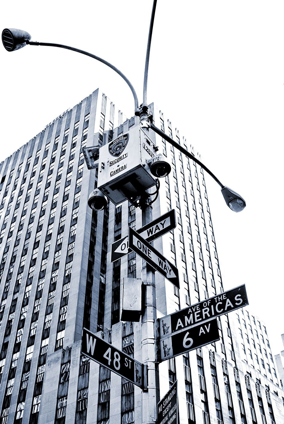 New York New York City NYC Street Photography Sign Road Sign Architecture Security Camera Street Light Urban City City Life Black And White Street Sign Street Signs Securitycam Security Cam Security Camera Safety Cctv Street Signage Road Signs Battle Of The Cities Resist