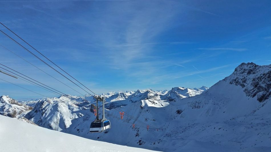 Arosa Beauty In Nature Cable Cable Car Cold Temperature Gondola Landscape Lenzerheide Mountain Mountain Range Nature Outdoors Skiing Snow Snowcapped Mountain Switzerland White Color Winter