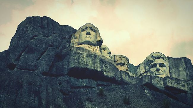 Mount Rushmore United States President Just Kidding Fake Made In China Shenzhen Window Of The World  Theme Park Hello World