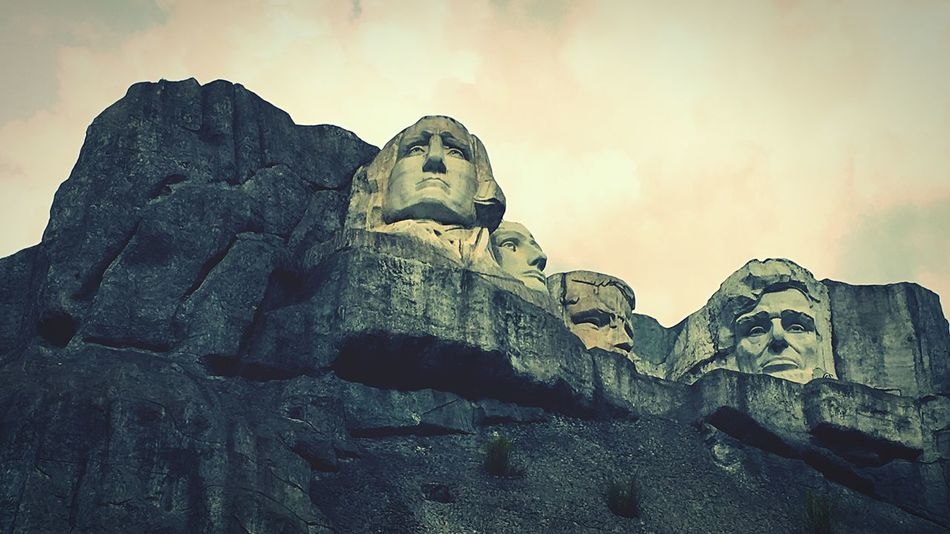 Mount Rushmore United States President Just Kidding Fake Made In China Shenzhen Window Of The World  Theme Park Hello World