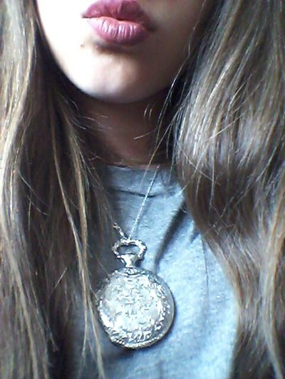 My Lips ♥ Purple Old Necklace