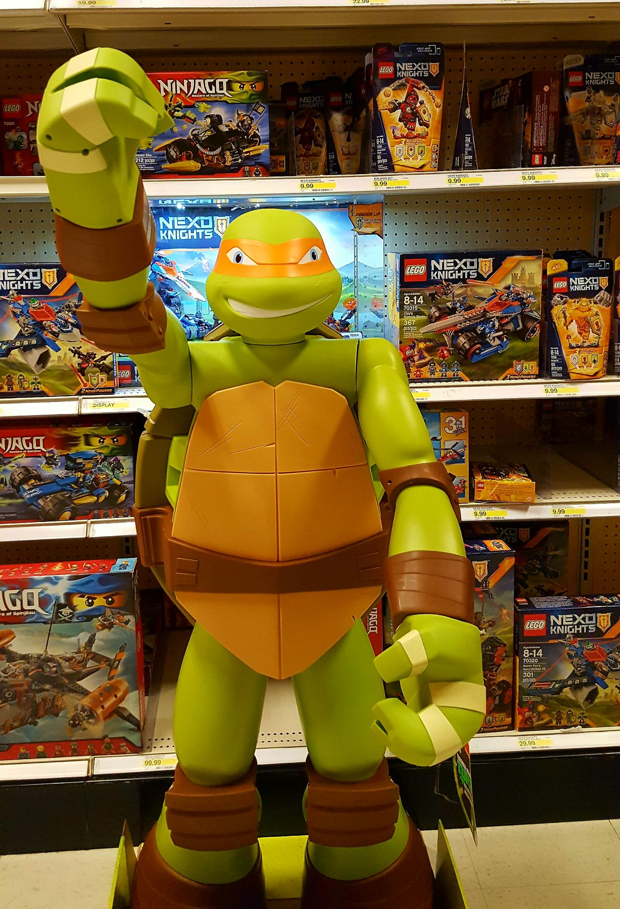 Store Shelf Turtle Ninja Choice Toys Business Finance And Industry