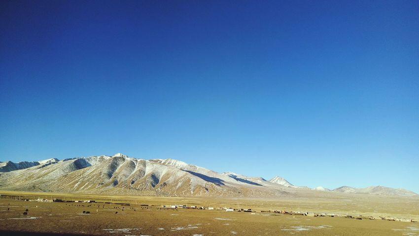 Blue Clear Sky Mountain Snow