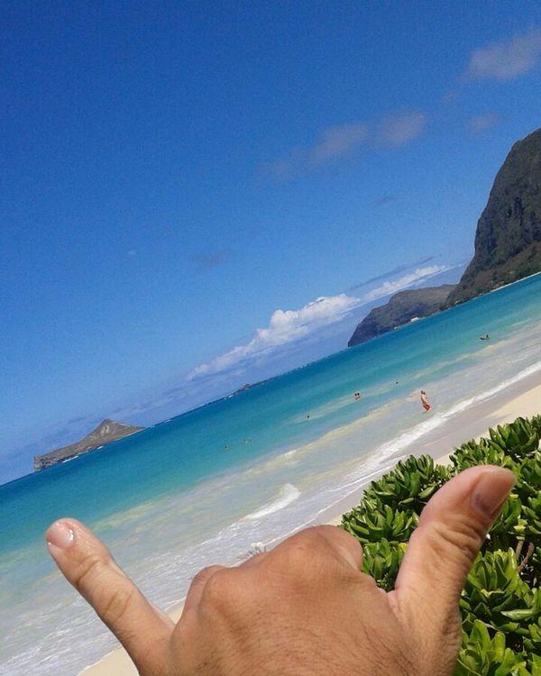 What's sup bruh? Hawaii Oahu Beach Home Luckywelivehawaii Shaka