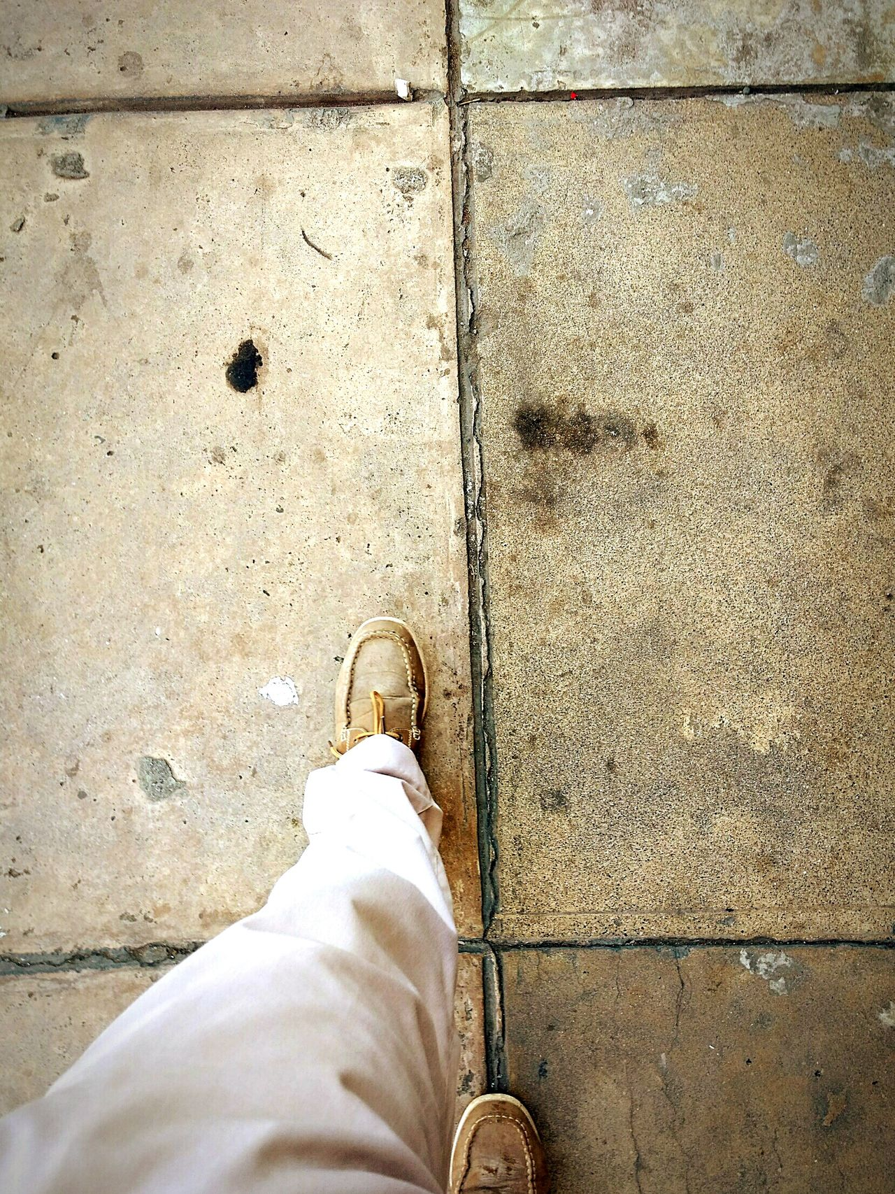 Old concrete sidewalk. Human Body Part Human Leg Shoe Standing Personal Perspective One Person Outdoors Low Section Street Street Photography Sidewalk Concrete Concrete Jungle Concrete Floor EyeEmBestPics EyeEm Gallery Adapted To The City