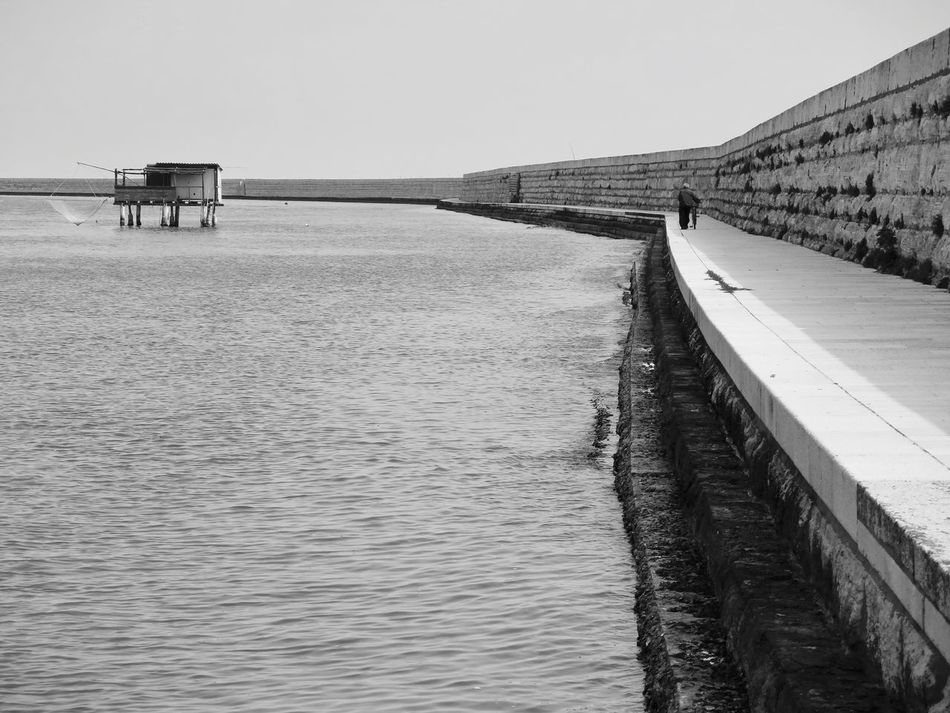 Architecture Black & White Black And White Black And White Photography Blackandwhite Photography Bridge - Man Made Structure Built Structure Clear Sky Day Eye4photography  EyeEm Gallery Fishing Fishing Village Island Nature No People Outdoors Sea Sky The Week On EyeEem The Week On Eyem Tranquility Water