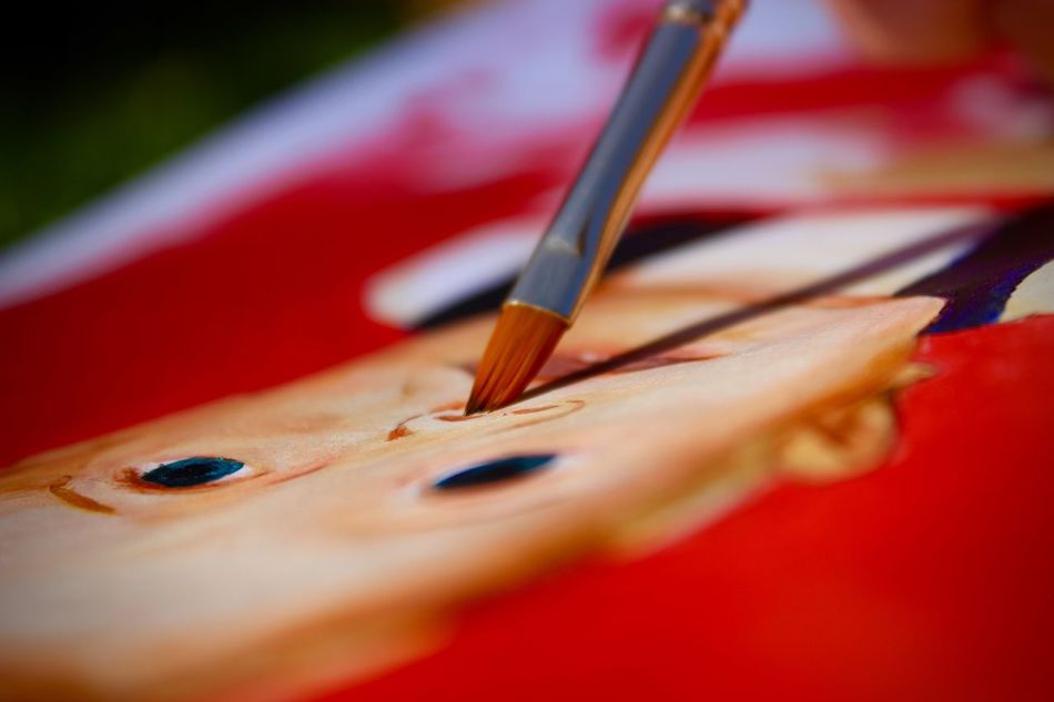 What a beautiful day! I've been making the most of it painting Art ArtWork Baby Close Up Close-up Color Color Portrait Colors Day Golf Club Macro No People Outdoor Photography Outdoors Outside Paint Paintbrush Painting Painting Art Potrait Red Red Selective Focus