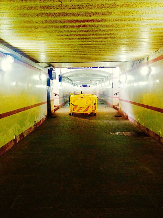 Paint The Town Yellow Station Indoors  No People Corridor The Way Forward Payattention Obstacles