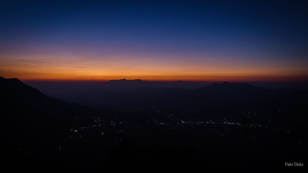 Colors Of Nature Sunset Landscape Mountain Night Silhouette Nature Scenics Beauty In Nature Dawn Sky Outdoors No People