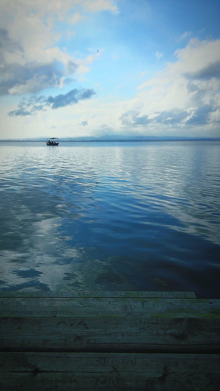 sky, sea, cloud - sky, water, scenics, tranquility, tranquil scene, nature, beauty in nature, horizon over water, transportation, no people, outdoors, mode of transport, nautical vessel, sunset, blue, day