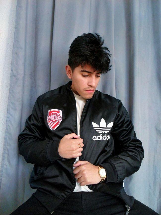 Adidas Originals Adidasoriginals Bomber Jacket Madrid SPAIN Swag Young Instagramer Guy Hair Black Hair Cute Boy Casio Watch Golden INSTAGRAM : danny_frshbxy