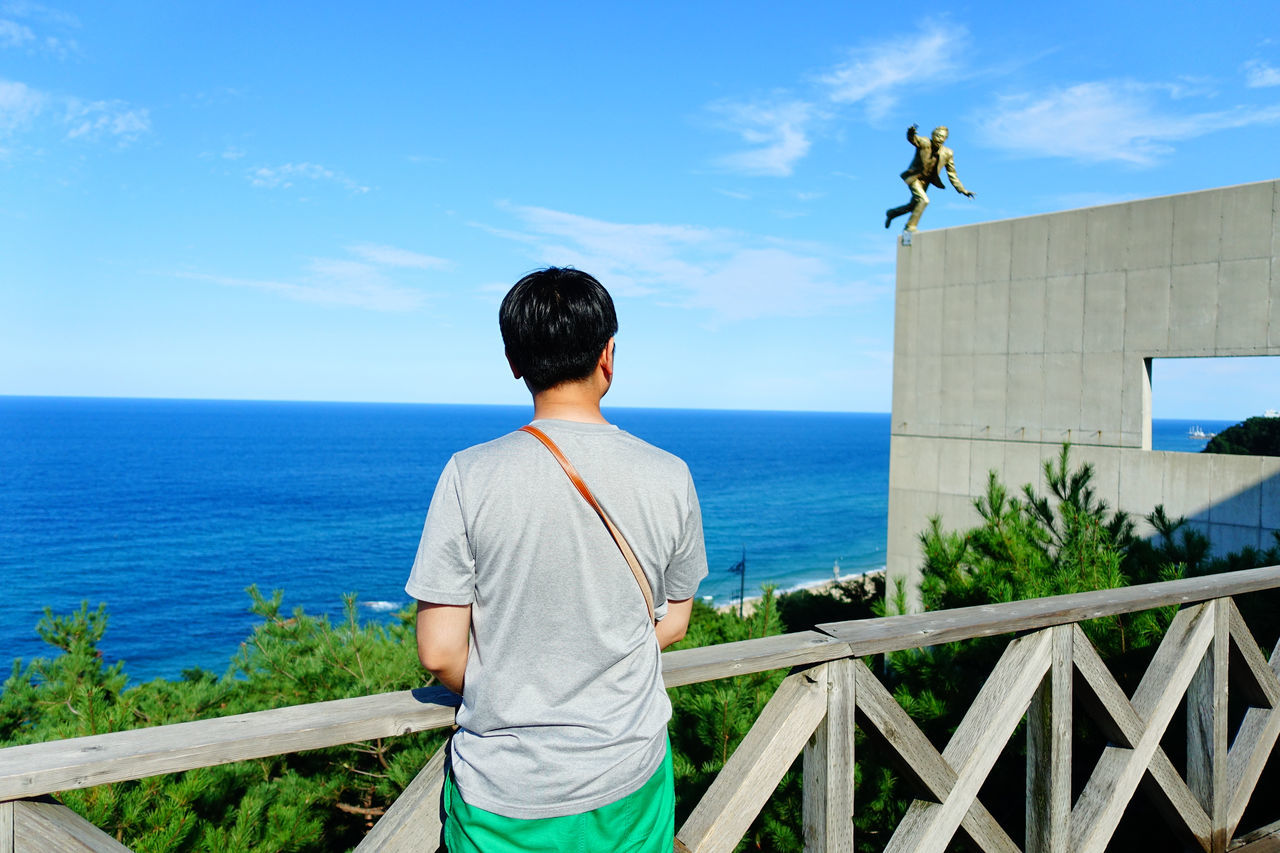Beautiful stock photos of mond, rear view, sea, real people, leisure activity