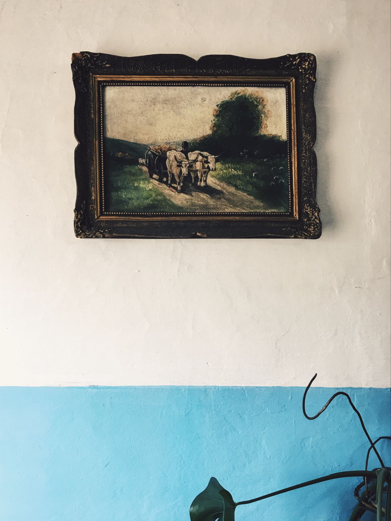 Art in unexpected places... Picture Frame Indoors  Low Angle View Paint Painting Painting Art ArtWork Art And Craft Art, Drawing, Creativity Arts Culture And Entertainment Antique Details Of My Life My Favorite Photo Found On The Roll Made In Romania Vscocam Retro Styled Paintings Antiquity