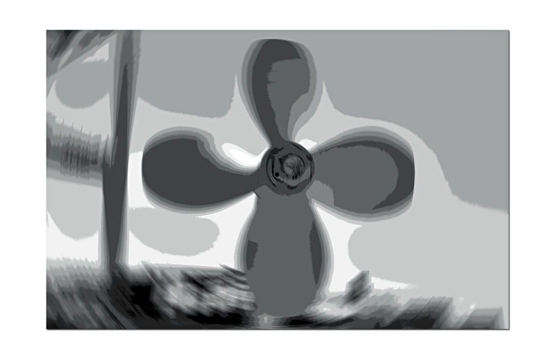 Middle Harbor 2 Port Of Oakland, Ca. Ships Propeller Abstract Abstract Rendering Blurred Effect Radial Blur Extreme Close-up Black & White Black And White Photography Black And White Black And White Collection  Monochrome Grayscale Middle Harbor