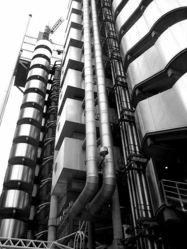 Lloyds building, London Built Structure Engineering England, UK Lloyds Building London Metallic Modern Pipe - Tube Uk