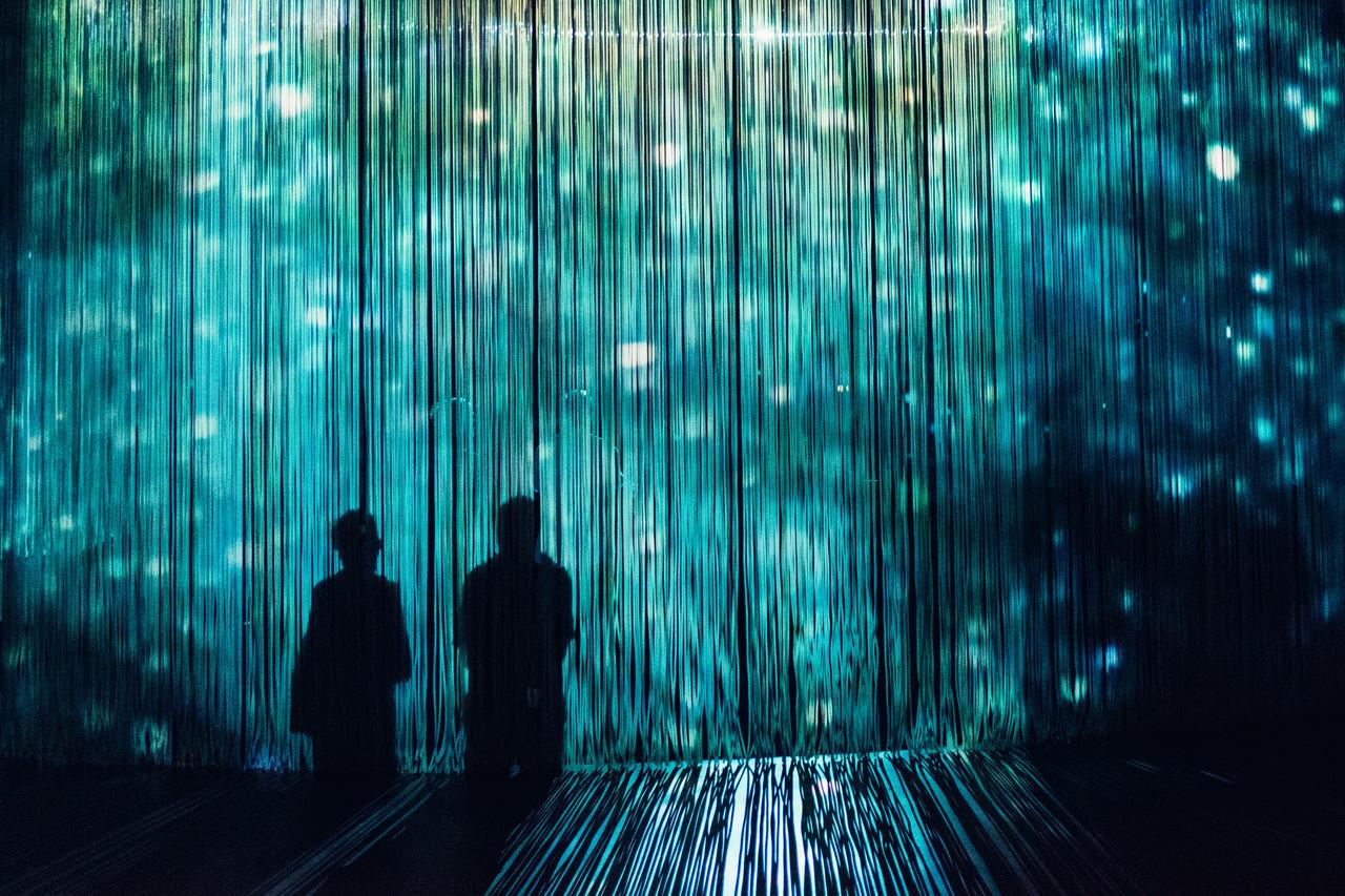 Curtain Call Ron Arad Colour Illuminated Light Show London Sillouette Tranquility