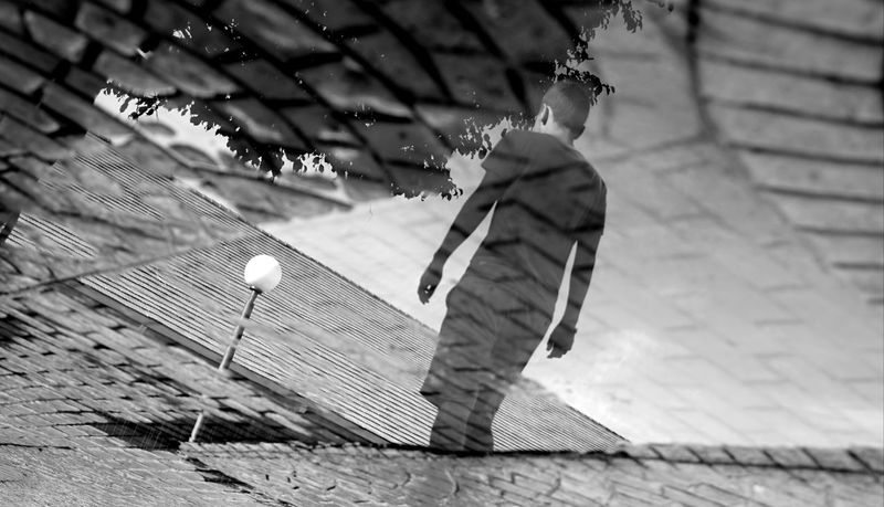 Reflections Vacation Close Contrast Fullframe Blackandwhite Monochrone Bnw Resort Monochrome Outdoors Day One Person People Adult Adults Only Only Men One Man Only