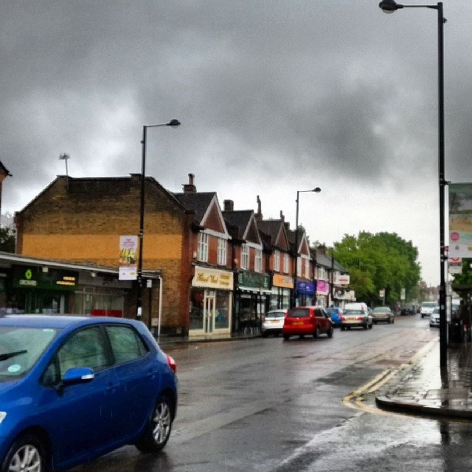Went to Ruislip hight street but did it need to rain. Rain Ruisliphighstreet