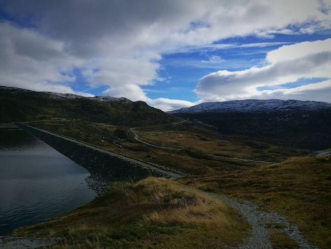 Beautiful view of Hardanger mountain . Norway🇳🇴 NorwayTourism Norwaynature Tourism Water Sky Non-urban Scene Beauty In Nature Idyllic Vacations TakeoverContrast