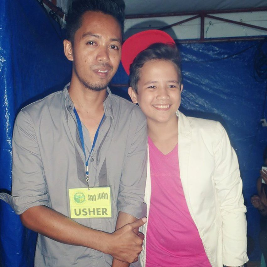 At the backstage last night with JuanKarlos @karloslabajo Thevoicekids Thevoice Bugwas JuanKarlos