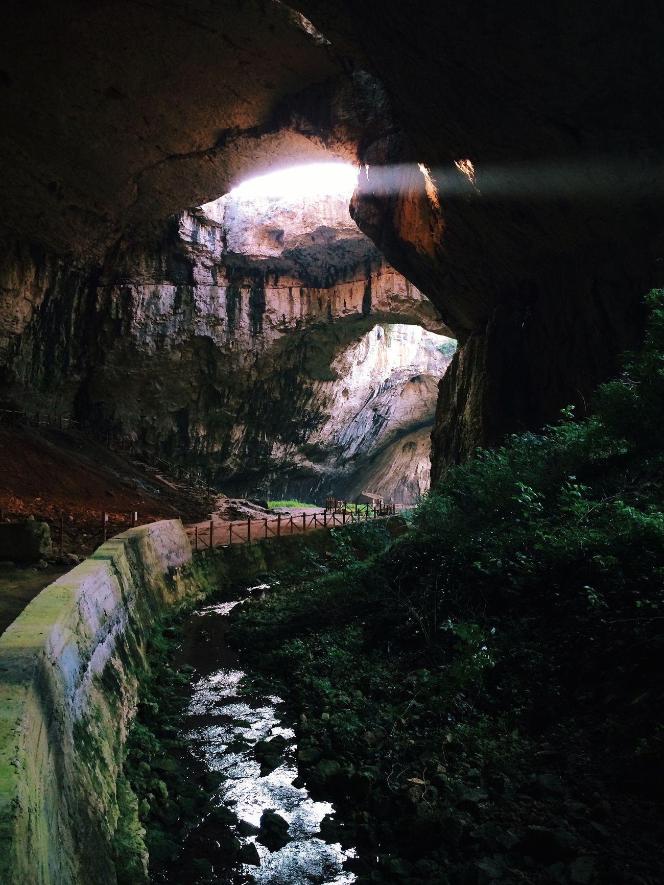 Devetaki Bulgaria Cave Hole Sun River Jungle