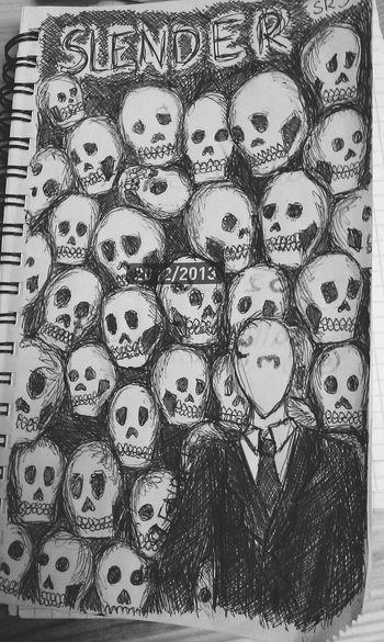 Old notebook doodle. Creepypasta Slender Doodle Art