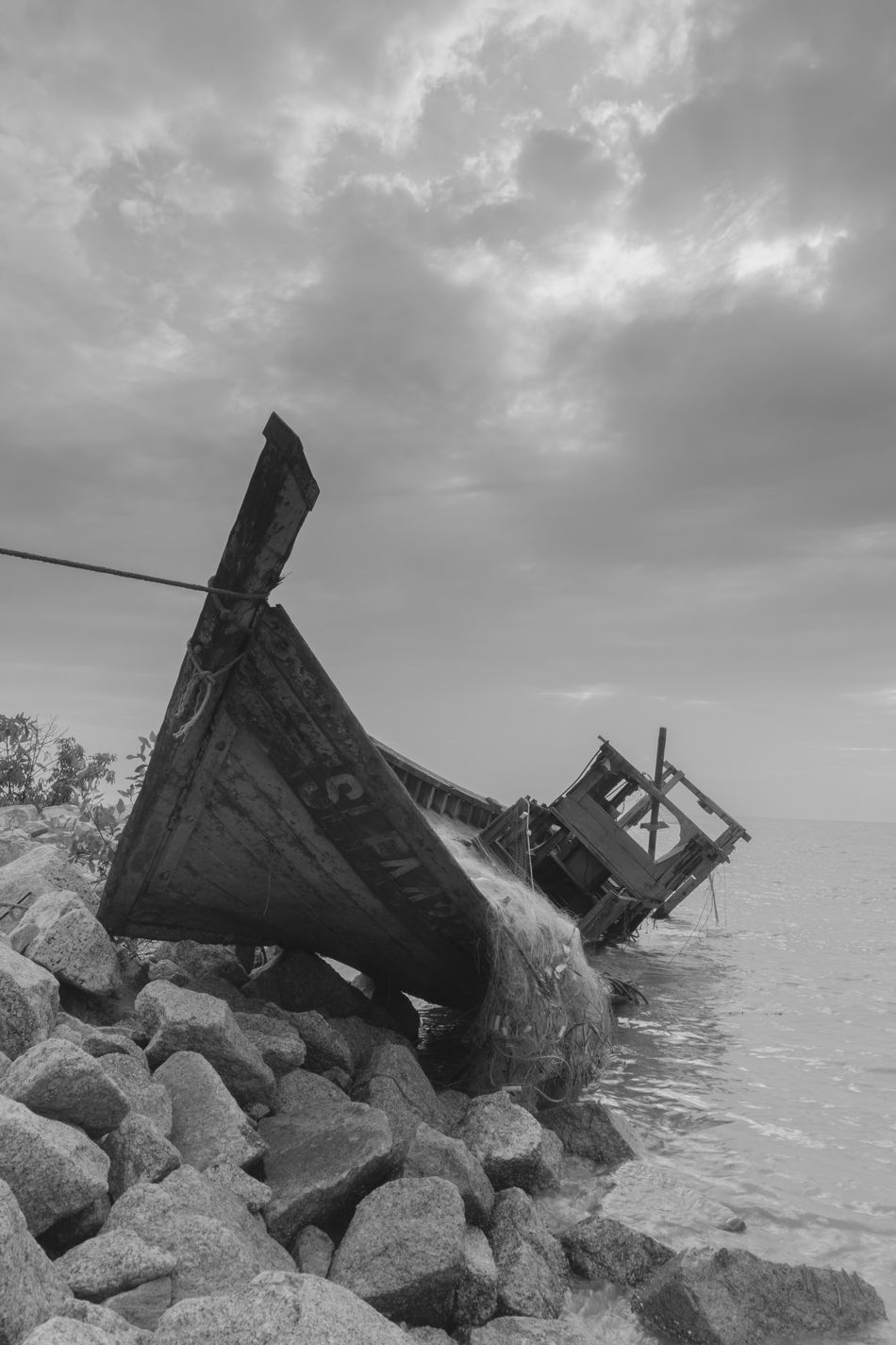 Blackandwhite Blackandwhite Photography Boat Day Nautical Vessel No People Outdoors Sky Water