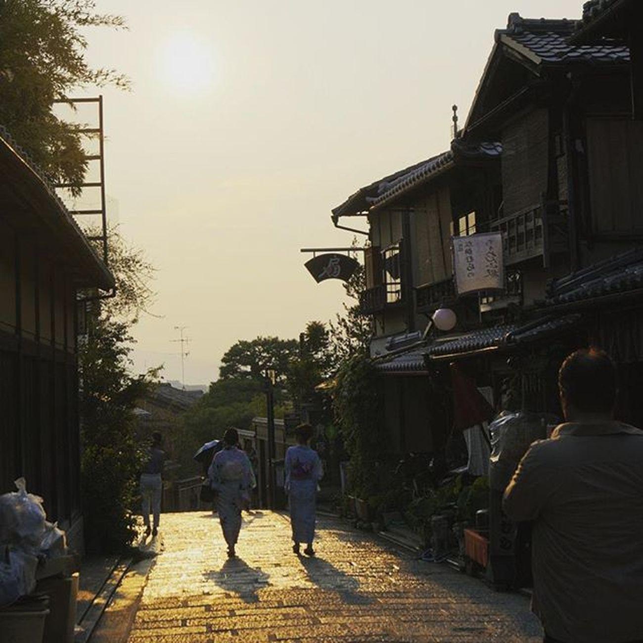Japan Kansai Kyouto Japaneseculture Helloworld Sunset YUKATA Beautiful Kiyomizudera 京都 着物 夕日