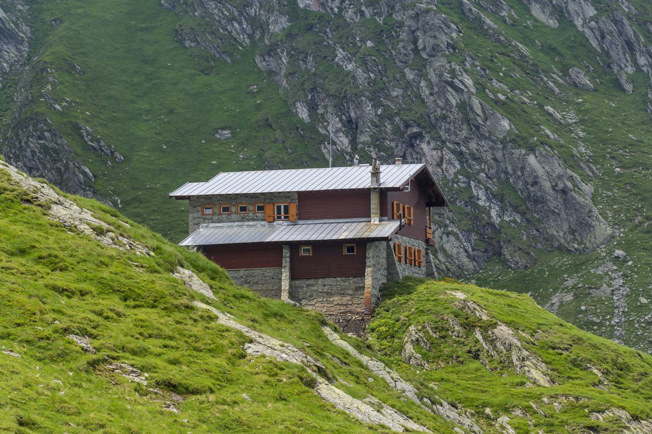 Alpine Architecture Building Exterior Built Structure Cabin Chalet Eurpean Grass Green Color Highlands House Mountain Mountain Range Nature Outdoors Panoramic Romantic Rural Rustic Style Stone Stone And Wood Chalet On The Mountain Range Swiss Mountains Tourism Traditional Wooden House