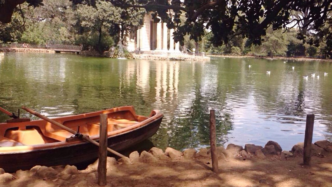 Rome Villa Borghese Park Nature Lake Water Reflection Tree Day Beauty In Nature First Eyeem Photo