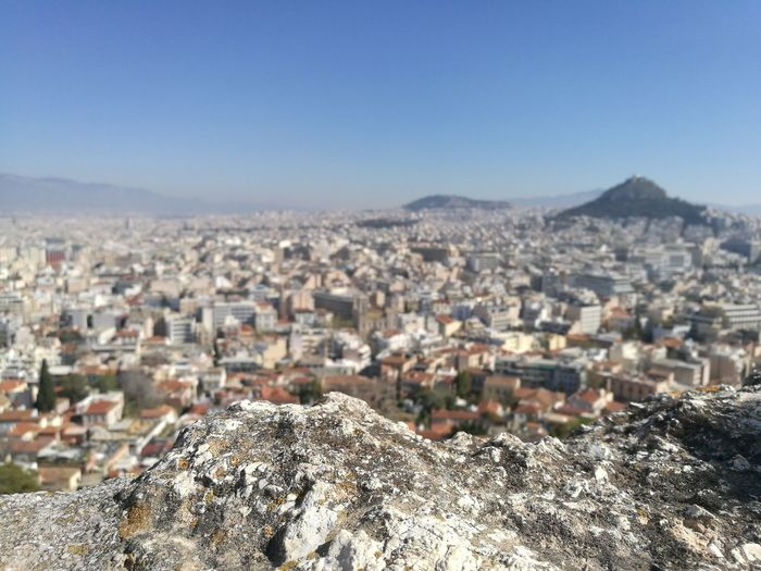 Cityscape City Building Exterior Town Architecture Built Structure Outdoors Clear Sky Day Sky Landscape Akropolis Griechenland Greece Photos Athens Street Photography Athens Greece BackpackersMemories The Week On Eyem Best EyeEm Shot Nature Woman Who Inspire You