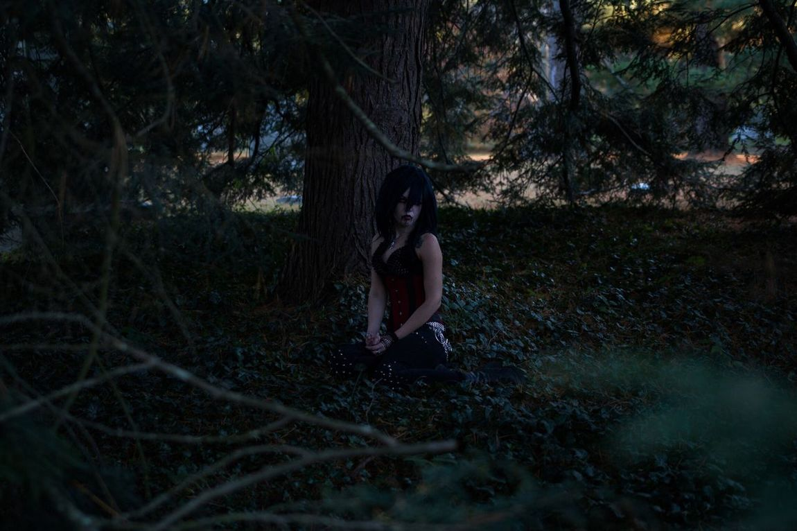 Full Length Cemetery Spoopy Looking At Camera Halloween Young Women Tree Alternativemodel Alternative Girls Tattooed Tattoomodels Tattooedgirls Forest One Person One Girl Only Night Outdoors People