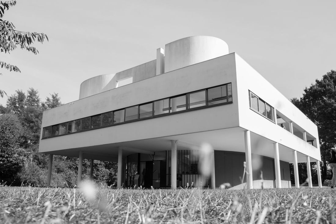 Light Architecture Blackandwhite Bw Cityscapes Day Fragility France Le Corbusier Low Angle View Modern Modern Modern Architecture Nikon No People Outdoors Paris Sky Sun Travel Travel Destinations Traveling Urban Villa Villa Savoye