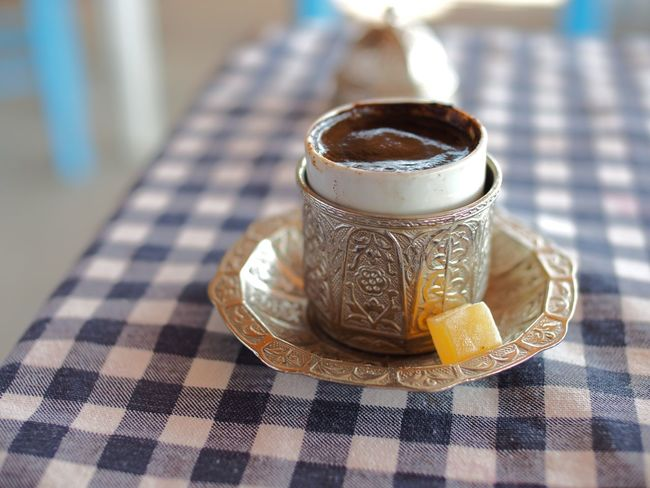 Drink Refreshment Indoors  Coffee Cup Food And Drink Still Life Coffee - Drink Close-up Table Beverage Freshness Selective Focus Non-alcoholic Beverage Hot Drink Focus On Foreground No People Intricacy Turkish Delight Turkish Coffee Shallow Depth Of Field