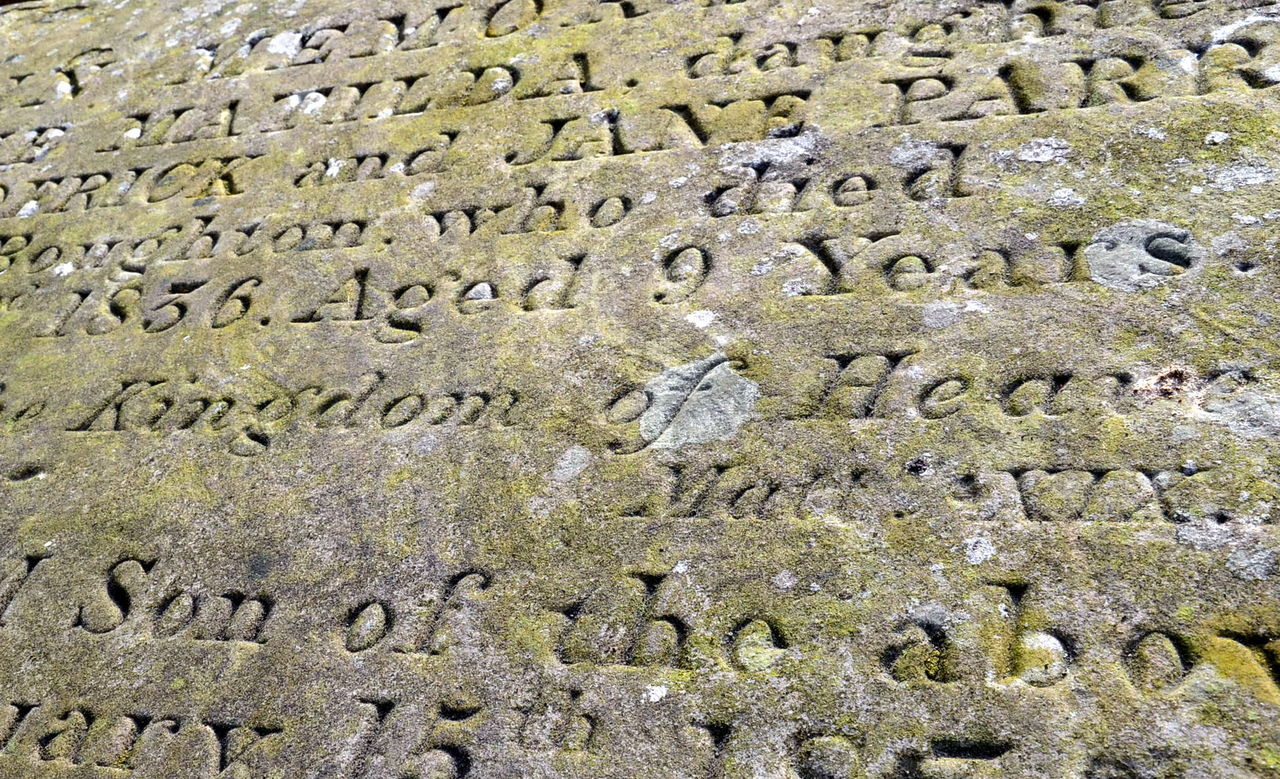 Backgrounds Close-up Communication Day Death Full Frame Funeral Funeral Chapel Funereal Grave Gravestone Graveyard Nature No People Old Gravestone Outdoors Stone Stone Material Text