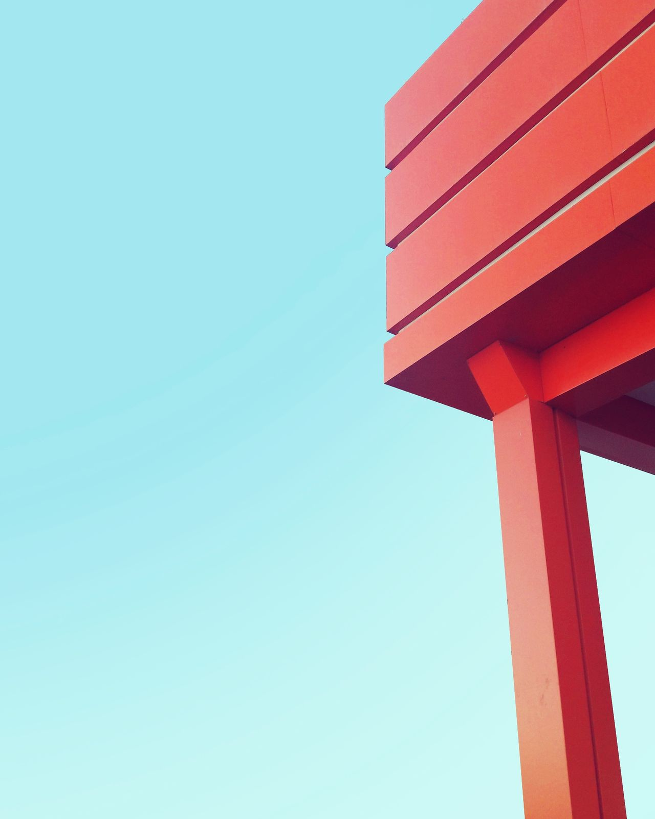 EyeEm Selects Architecture day Red no people Clear sky Orange summer 2017 Architecture minimalism minimal