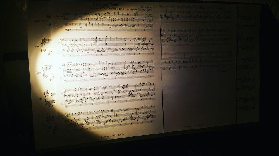 Text Paper Page Handwriting  No People Formula Musicnote Musicsheet Piano Anime SwordArtOnline