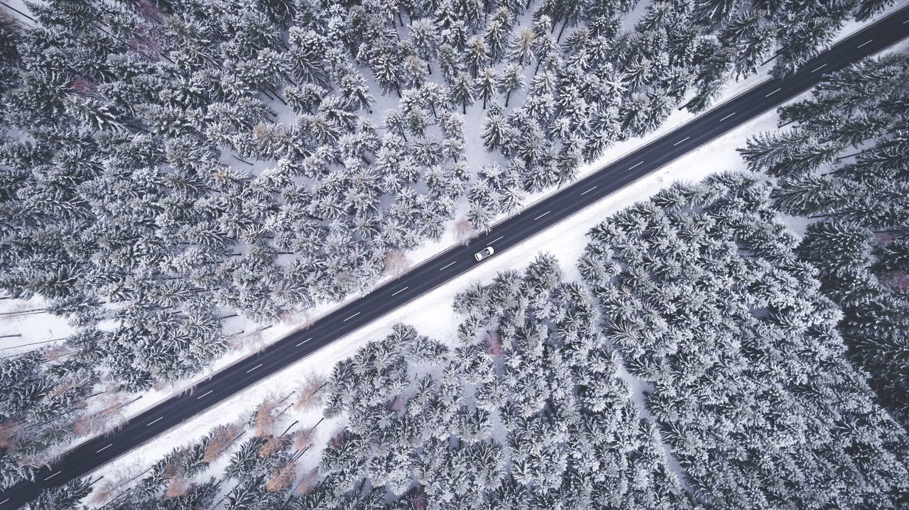 Winter from above. Winter Cold Temperature Snow Day High Angle View No People Nature Transportation Outdoors Tree Close-up Beauty In Nature Snowing Saxony