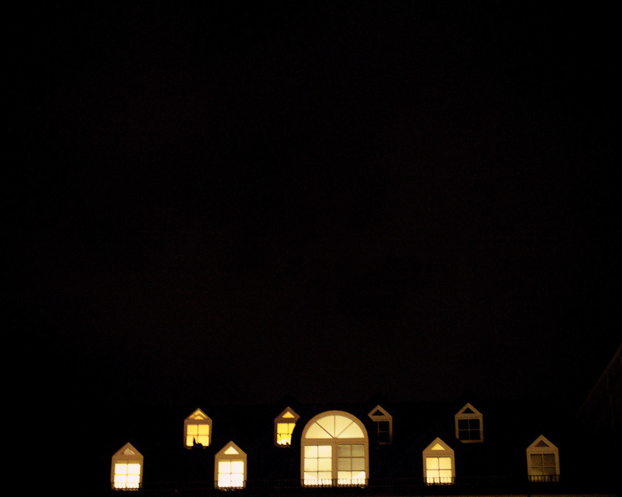 Architecture Building Exterior Built Structure City Copy Space Freiburg House Top Lights In The Dark Low Angle View Night No People Outdoors Sky Windows