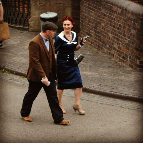Enjoying Life Filtered Image 1940s 1940's Weekend Black Country Museum Living History World War 2 20th Century Street Photography People Watching 1940s Fashion