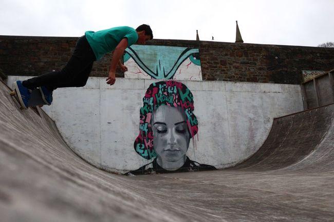 Skate Skateboarding Skateboard Skatelife Huf Magenta Canon Art Graffiti Halfpipe Grind James skating at appledore