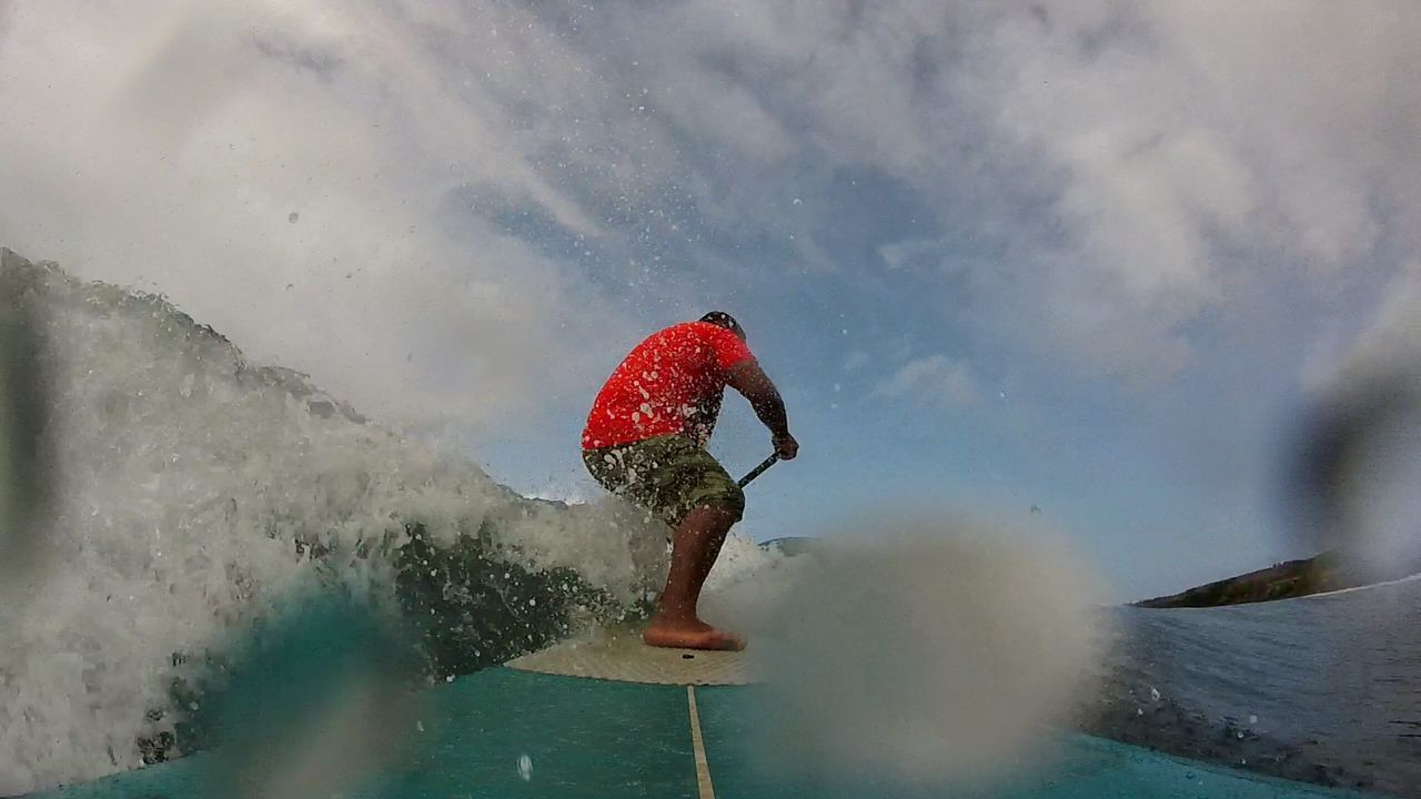 """your looking forwards not backward. My Back Yard GoPro on 9'10""""x28.5""""x4"""""""