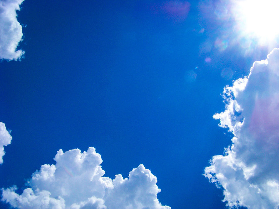 Blue Cloud - Sky Sky Nature Outdoors No People Tranquility Clouds And Sky Cloud_collection  Sunrays Sunrays Through The Clouds Sunray Of Light