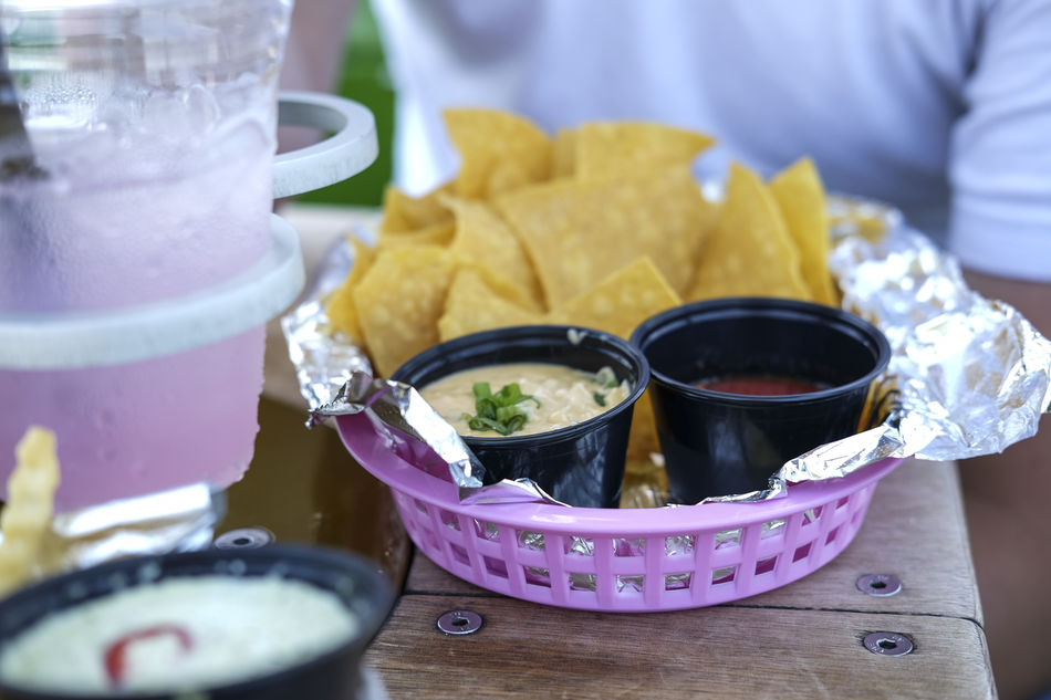 Appetizer Close-up Food Food And Drink Freshness Fujifilm FUJIFILM X-T1 Nachos Non-alcoholic Beverage Pink Color Ready-to-eat Selective Focus Summer Summertime Table