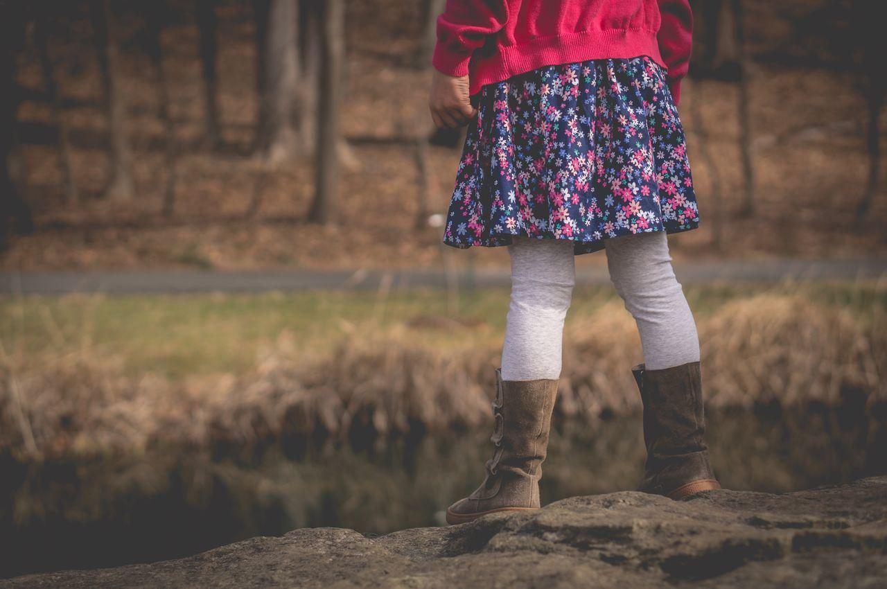 Child Childhood Children Faceless Nature Outdoors Girl