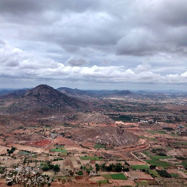 View from Nandi Hills this morning. Bluefoot Bangalore Nandi Colonial Tipusultan Hyderali Mughal Fort
