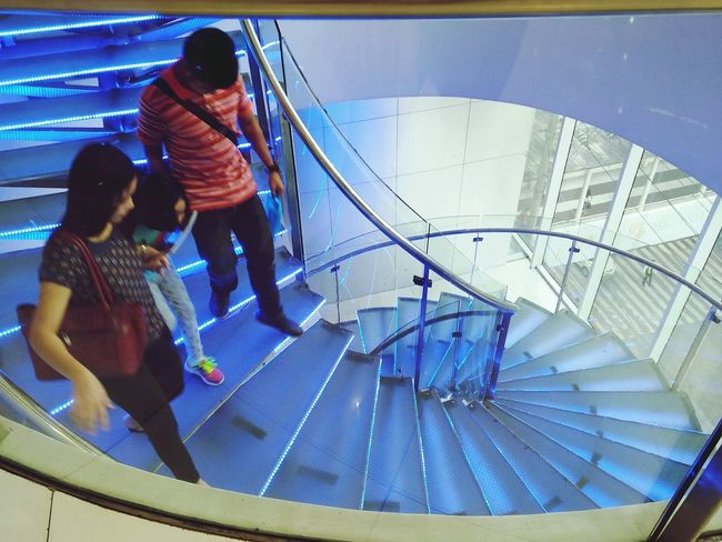 Performance Horizontal People Togetherness Adult Person Outdoors Day Stairs Staircase Stair Stairways Stairway Stairs_collection Blue Bluestairs Horizontal Family Family❤ Family Time Family With One Child