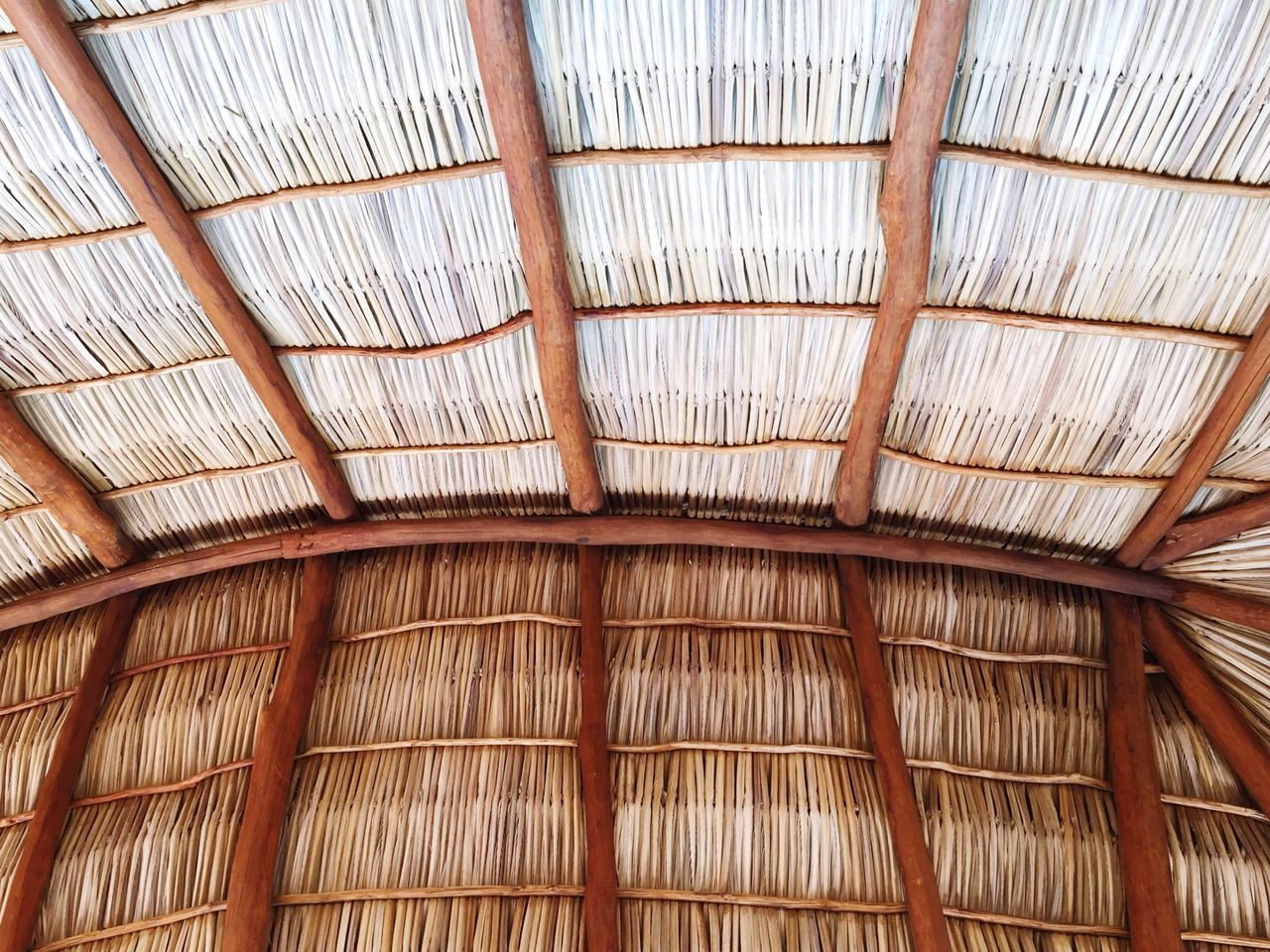 Beauty In Nature Palapa Palms Design Nature_collection Lookingup Pattern Backgrounds No People Weaving Leaves